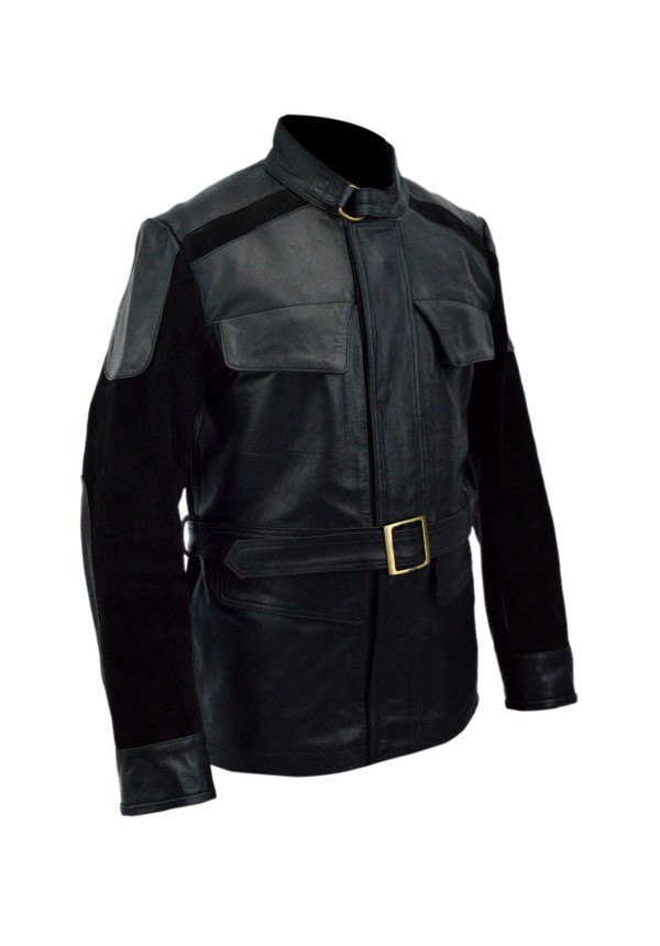 Age Of Ultron Nick Fury Leather Jacket - Avengers Flesh Jacket