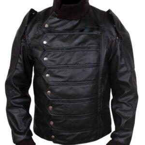 Avengers - End Game - Bucky Barnes Leather Jacket Flesh Jacket
