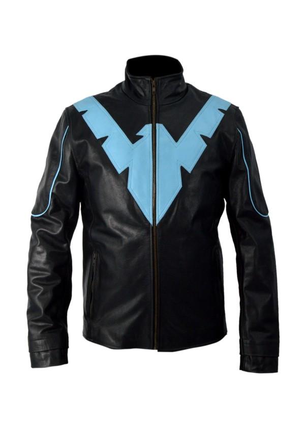 Batman Arkham Knight Nightwing Leather Jacket Flesh Jacket