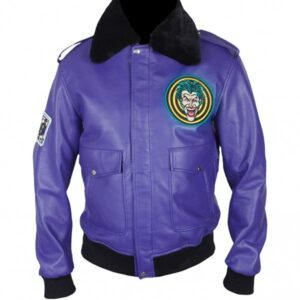 Batman Henchman Joker Goon Purple Bomber Jacket