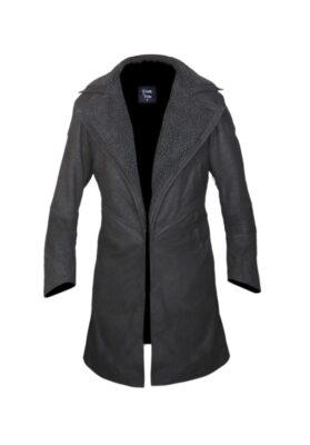 Blade Runner 2049 Ryan Gosling Faux Fur Lined Open Front Coat