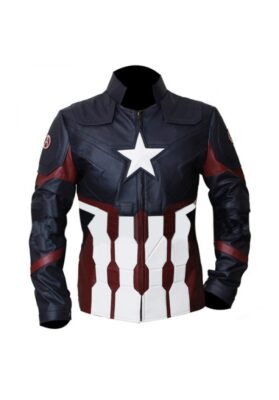 Captain America Infinity War Leather Jacket - Avengers - Flesh Jacket