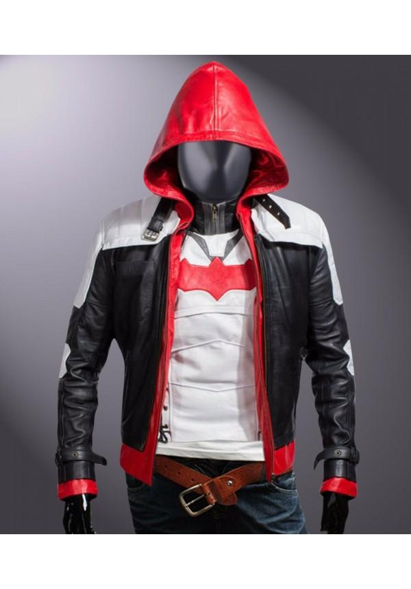 Jason Todd Arkham Knight Batman Red Hooded Jacket & Vest Flesh Jacket