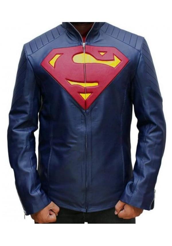 Man Of Steel Superman Leather Jacket Flesh Jacket