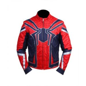 Spider Man Leather Jacket - Avengers - Infinity War Flesh Jacket