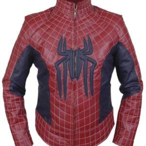 The Amazing Spiderman Leather Jacket With Padded Flesh Jacket