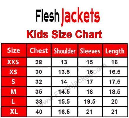 Kids Jacket Size Chart