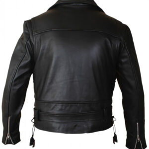 Kids Terminator 2 leather jacket back