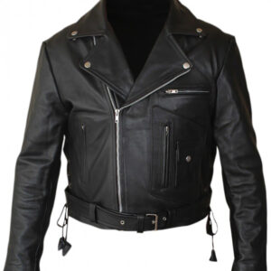 Terminator 2 leather jacket front