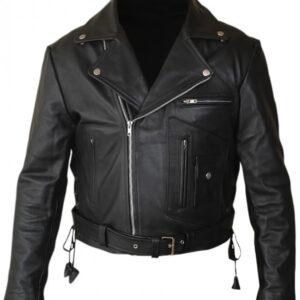 Terminator 2 leather jacket front