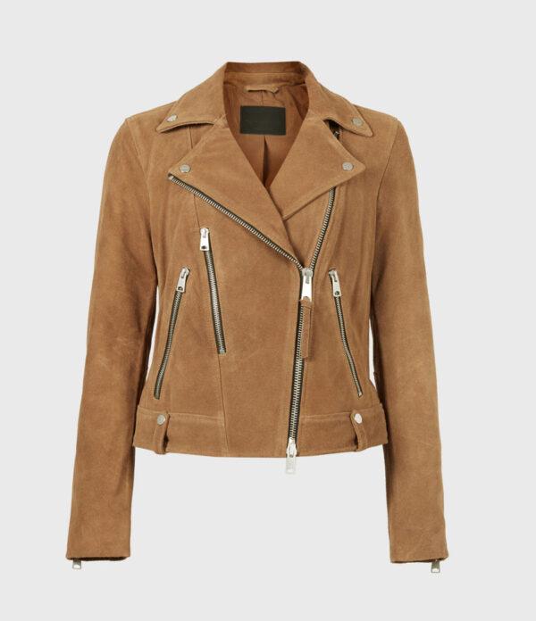 Women Suede Leather Jacket