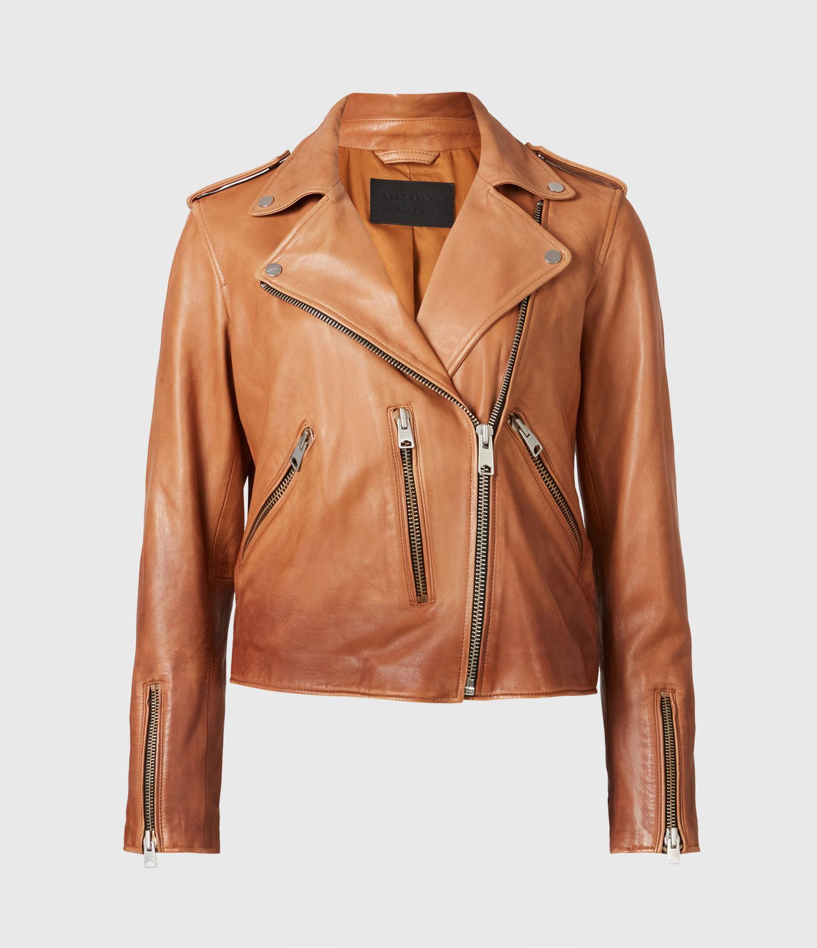 Fern Dip Dye Leather Biker Jacket - Women Leather Jacket