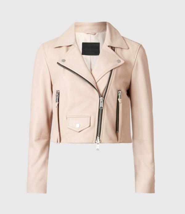 Elora Leather Biker Jacket